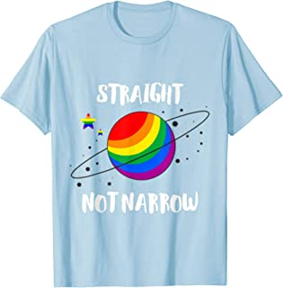 LGBT Pride straight but not narrow shirt Pride Ally