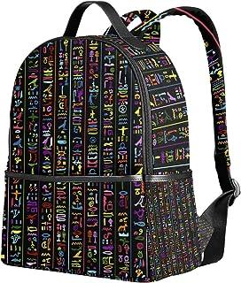 mochila escolar Egipto Hieroglyphs mochila bandolera para niñas y niños