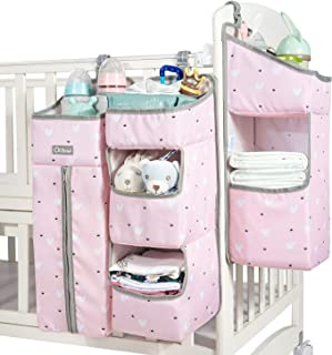 Orzbow 3-in-1 Nursery Organizer and Baby Diaper Caddy | Hanging Diaper Organization Storage for Baby Essentials | Hang on ...