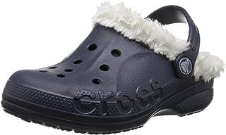 Crocs 卡骆驰儿童 Baya 毛绒内衬洞鞋