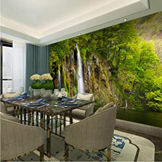 Pbldb 5D Mural Wallpaper Nature Waterfall Print Large Wall Mural Wall Paper for Tv Background 3D Phtoto Murals-350X250Cm