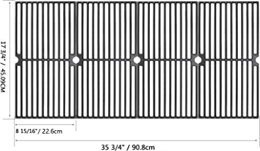 Hisencn 17.75 Cast Iron Cooking Grate Replacement for Brinkmann 810, 810-2410-S, 810-2411-F, 810-7490-F, 810-8410-F, 810-4557-0, 810-9415F Charmglow 810-8410-F, 17 3/4