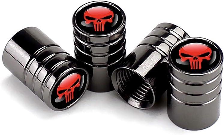 Soccer】 CaserBay Titanium Black Chrome Car Wheel Tire Valve Stem Caps Logo Emblem Decoration For Car Styling 4 Pcs Set【Titanium Black