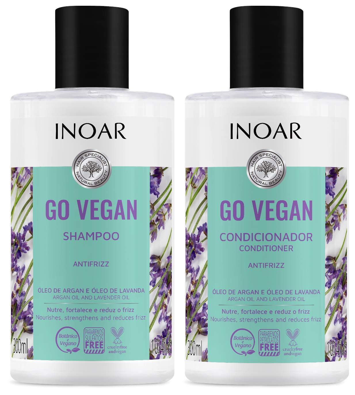 INOAR PROFESSIONAL - Go Vegan Anti-Frizz Hair Mesa Mall Shampoo Conditio High quality new