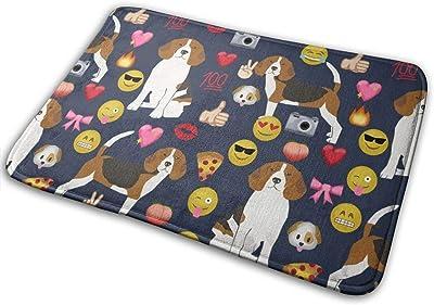 """Beagle Emoji Cute Funny Dog Breed_25143 Doormat Entrance Mat Floor Mat Rug Indoor/Outdoor/Front Door/Bathroom Mats Rubber Non Slip 23.6"""" X 15.8"""""""