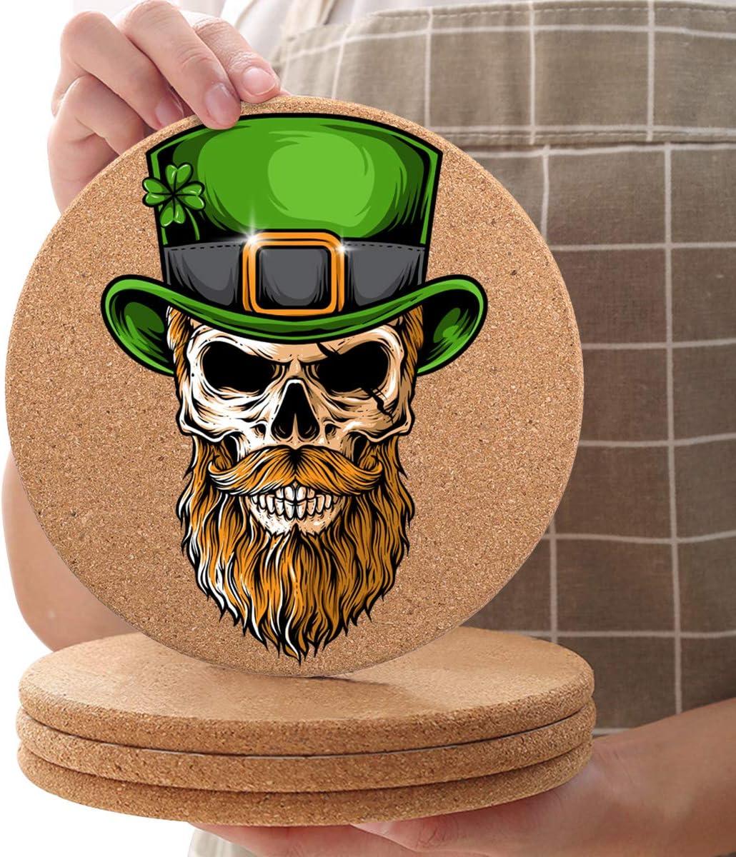 16 Pcs St. Patrick's Day Finally popular brand Seasonal Wrap Introduction Coaster Cork Trivets 6.3inch Diameter