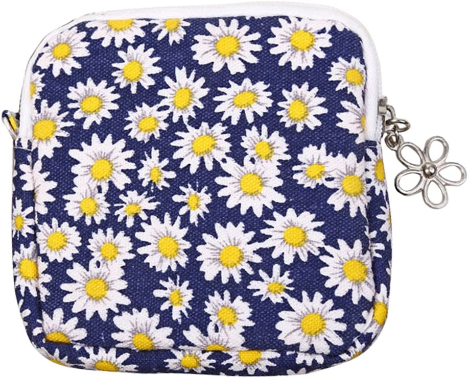 Bluelans Coin Purse Women NEW before selling Cute Nap New product type Pad Sanitary Holder Organizer