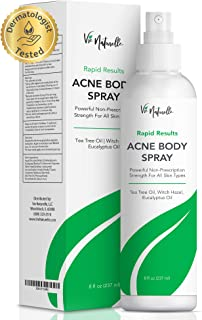 Body Acne Spray Treatment with Tea Tree Oil and Salicylic Acid for Men, Women, and Teens - Powerful Non-Prescription Stren...