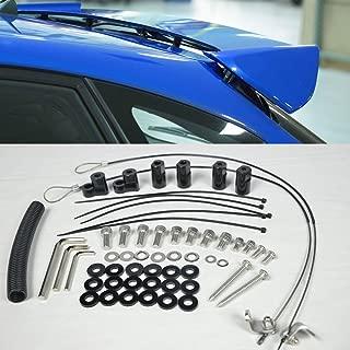 VXMOTOR for 11-14 Subaru WRX Hatch 4 Door Rear Spoiler Lip Wing Riser Kit 2011 2012 2013 2014