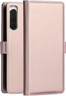 Mobile Phone Leather Cases Milo Series PC + PU Horizontal Flip Leather Case with Holder & Card Slot & Wallet for Sony Xperia 2(Black) Sony Leather Cases (Color : Rose Gold)