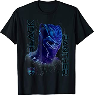Marvel Black Panther Movie Geo Tech Purple Portrait T-Shirt