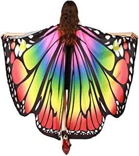 Prop Soft Fabric Butterfly Wings Shawl Fairy Nymph Pixie Costume Accessory