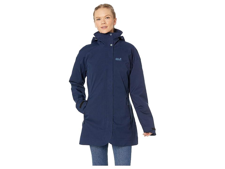 Jack Wolfskin Ruunaa 3-in-1 Waterproof Coat (Midnight Blue) Women
