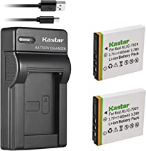 Kastar Battery (X2) & Slim USB Charger for Kodak KLIC-7001 and Kodak EasyShare M320, M340, M341, M753 Zoom, M763, M853 Zoo...