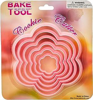 طقم قطاعات عجين بسكويت شكل وردة من بيك تول، 6 قطع