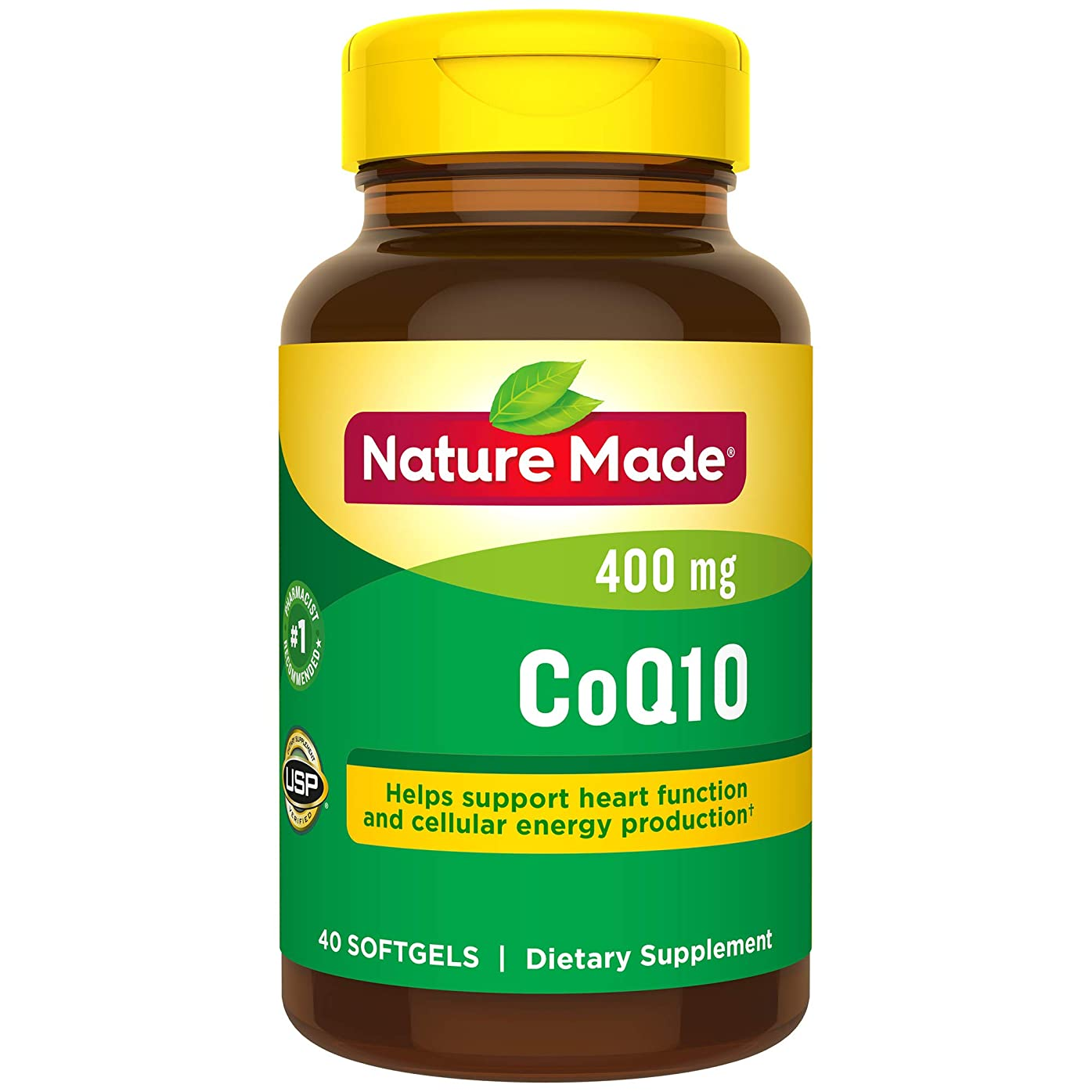 クラックポット国家排除するNature Made Coq10 400 Mg, Naturally Orange, 40-Count by Nature Made