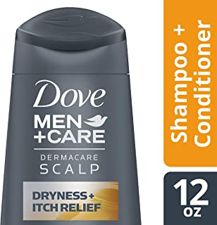 DOVE HAIR Men+Care Dermacare 2 In 1 Shampoo And Conditioner, Scalp Dryness + Itch Relief, 12 Ounce (Pack Of 6)