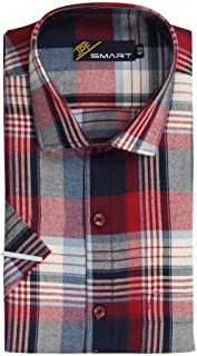JPF Smart Stewart Mens 100% Cotton Regular Fit Formal Half Sleeve Shirt with Pocket Colorful Summer Formal Clothing