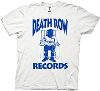 Ripple Junction Death Row Records Adult Unisex Blue Logo Light Weight 100% Cotton Crew T-Shirt