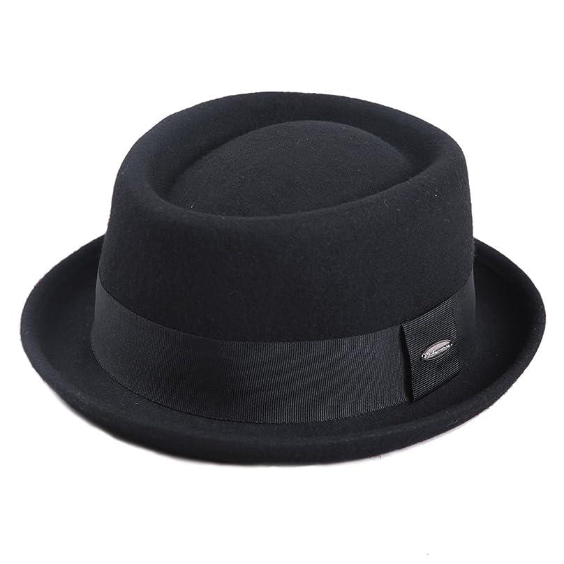 どうやって哲学博士努力Sedancasesaメンズハット メンズ帽子 フェルトハット ポークパイ 大きいサイズ ウールフェルト 57CM/59CM メンズ秋冬帽子 …