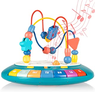 Baby Toys, Bump and Go Musical Piano Keyboard for Toddlers,
