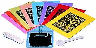 Melissa & Doug Scratch Art Printmaking Subi Printing Paper - 40 Sheets, 8 Colors