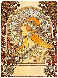 Zodiac by Alphonse Mucha | print on wall sticker vinyl decal (Rolled) | 35