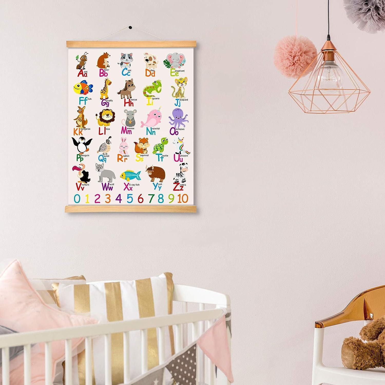 Buy Alphabet Animals Poster ABC Canvas Wall Art Prints Educational ...