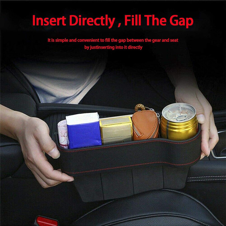 OTOTEC Auto Multifunktion Ablagefach Aufbewahrungsbox aus Leder und Kunststoff f/ür Autositz Seitenspalte Fahrersitz f/ür Meisten Autos