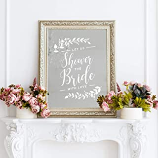Vinyl Wall Art Decal - Let Us Shower The Bride with Love - 22