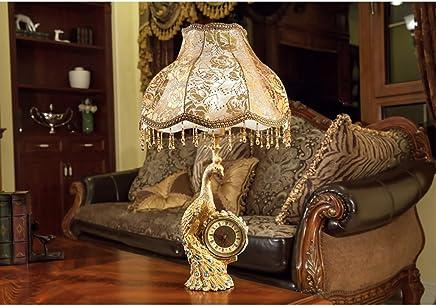 MILUCE ヨーロッパのレトロ豪華なベッドルームランプリビングルームの研究暖かくクリエイティブな布ランプ装飾樹脂ランプ