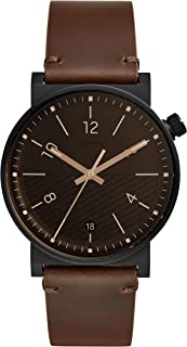 Fossil Men's Quartz Wrist Watch analog Display and Leather Strap, FS5552