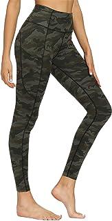 Varsoul Pattern Yoga Pants for Women High Waisted Sport Workout Leggings