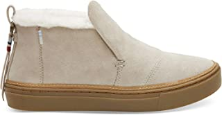 TOMS Women's Paxton Water-Resistant Slip-Ons Birch Suede/Faux Fur 8.5 B US
