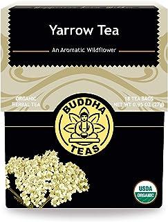 Buddha Teas Organic Yarrow Tea - Leaf and Flower | 18 Bleach-Free Tea Bags | Anti-Inflammatory | Promotes Relaxation and D...