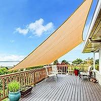 Yufol Sun Shade Sail 8 x 10-Ft Rectangle UV Block Canopy Deals