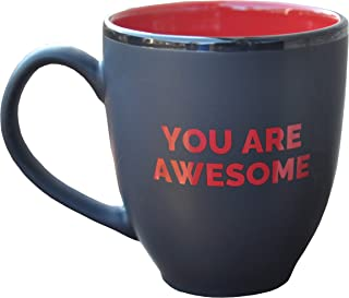 16 Oz Large Coffee Mug with Gift Box - You Are Awesome - Unique Gift Mug for Holiday Mothers Day Fathers Day Christmas Easter Thanksgiving Men Women Present