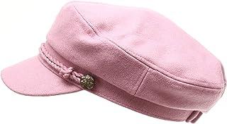 daf2a1e670a MIRMARU Women s Classic Mariner Style Greek Fisherman s Sailor Newsboy Hats  with Comfort Elastic Back