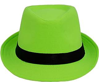 D DOLITY Gentleman Ladies Fedora Hat Trilby Cap Linen Jazz Sunhat Sunbonnet Beach Panama Sunhat