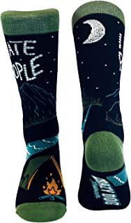 I Hate People Socks Funny Camping Outdoor Casual Footwear