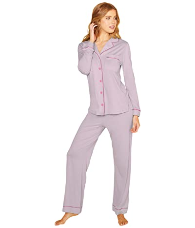 Cosabella Bella Long Sleeve Top Pants PJ Set (Tuscan Lavendar/Jelly) Women