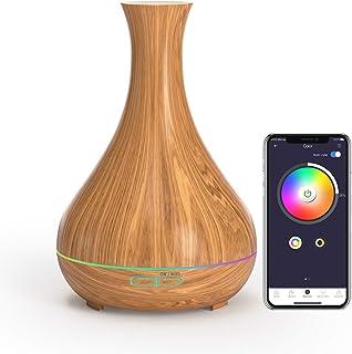 Meross Difusor de aceite esencial Smart WiFi, compatible con Alexa y Google Home, difusor de aromaterapia de 400 ml y humi...