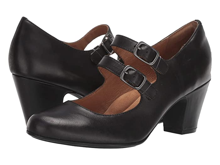 1960s Shoes: 8 Popular Shoe Styles Sofft Maliyah Black Tequila Womens Shoes $109.95 AT vintagedancer.com