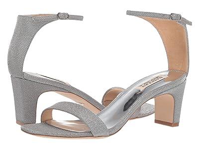 Badgley Mischka Aida (Silver Diamond Textile) High Heels