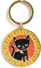 product image for Night Owl Paper Goods Lucky Cat Enamel Keychain, Gold