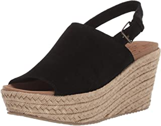 Skechers Women's Brit-High-Wedge Suede Sling Back Sandal