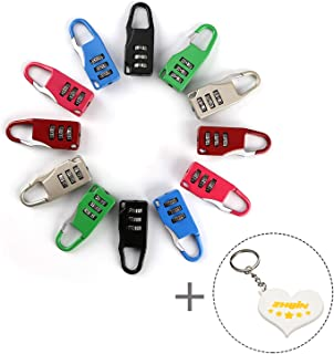 Zhi Jin 12Pack Travel Combination Lock Luggage Padlock Code Locks Gym Lockers Set Bulk Sports Baggage Cabinets