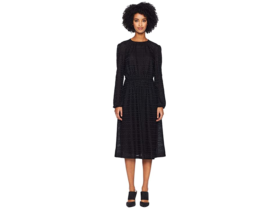 M Missoni Solid Lurex Jersey Dress (Black) Women