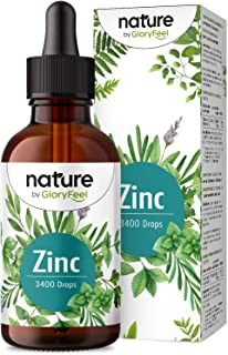 Zink Droppar - 100 ml (3400 Droppar) - Premium: Zinksulfatvätska (Joniskt Zink) - Utan Alkohol - Veganskt