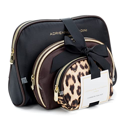 088f1956d Adrienne Vittadini Cosmetic Makeup Bags: Compact Travel Toiletry Bag Set in  Small, Medium and